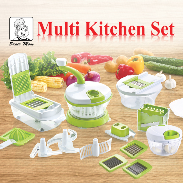 Jual Peralatan Rumah Multi Kitchen Set Free Multipan Jacotvping Tokopedia