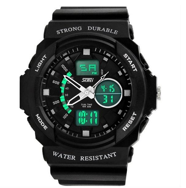 SKMEI GRENADE Dual Time Waterproof 5ATM Anti Air Digital Jam Watch