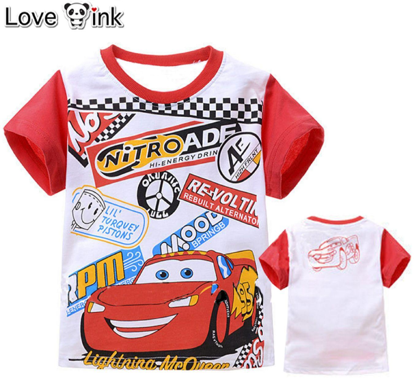 KSKDL16 - Kaos Atasan Anak CARS Nitroade Murah