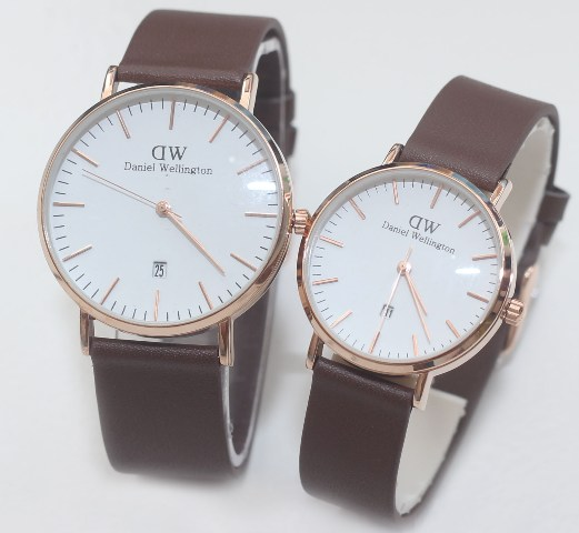 Jual Jam Tangan Daniel Wellington Couple Brown Leather