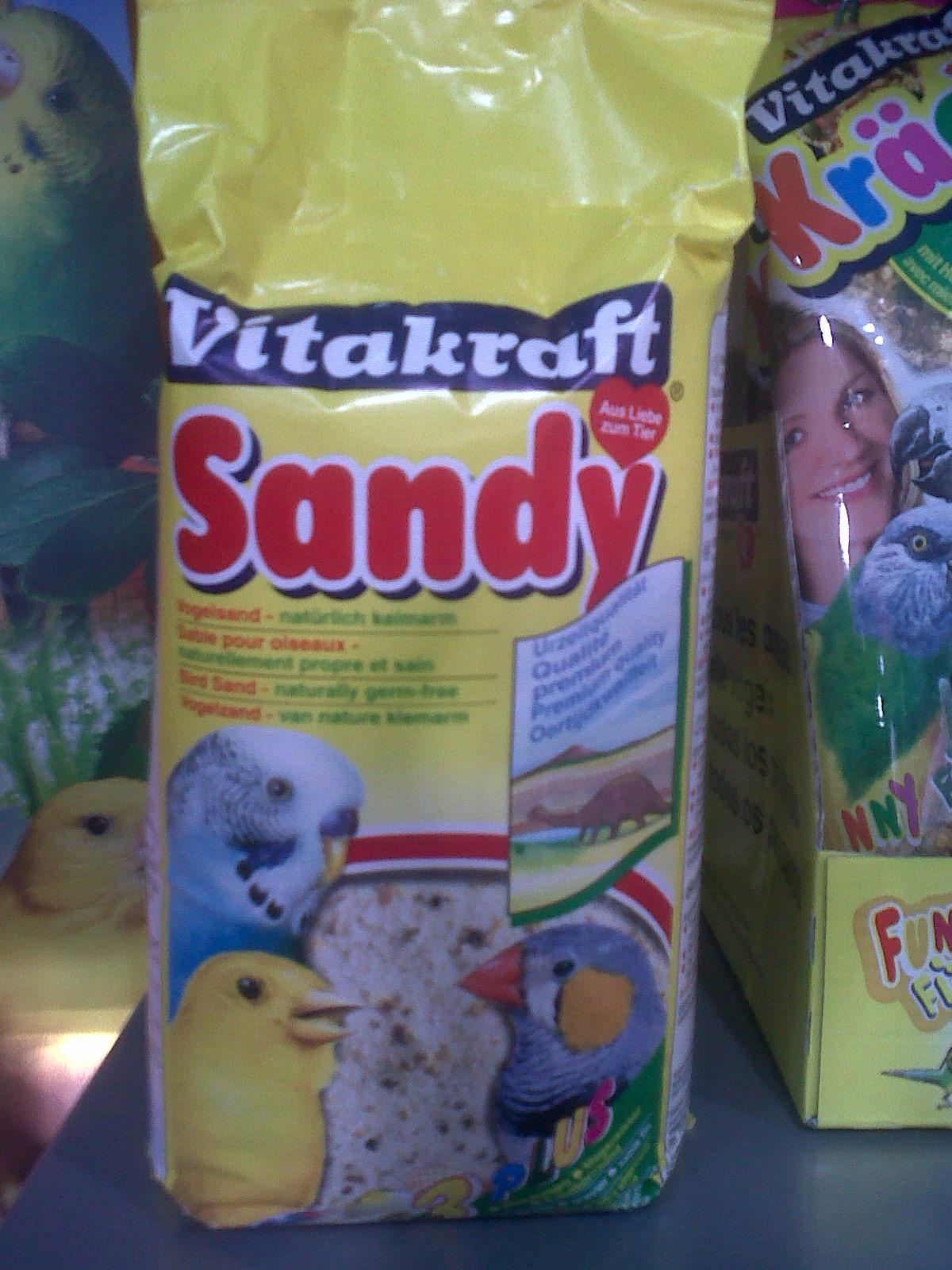 PASIR BURUNG, VITAKRAFT BIRD SAND, KENARI, LOVE BIRD, PARKIT, NURI