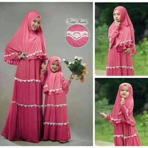 Jual Couple Hijab Albina Mom N Kids Sepasang Gamis Ibu