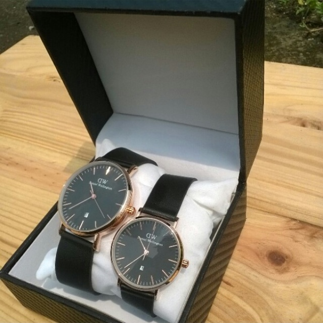 Jual Jam Tangan DW Daniel Wellington Couple Black Rachman Akserda Shop Tokopedia