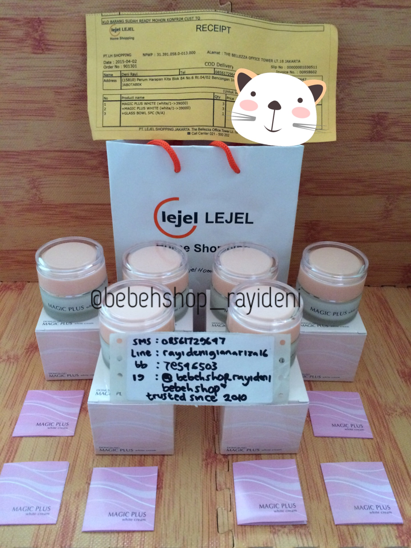Jual Magic Plus White Cream By Lejel Home Shopping ORI