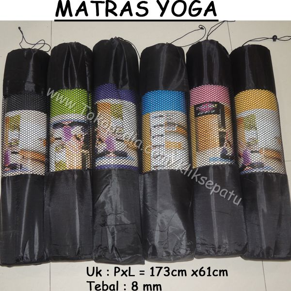 Jual Matras Yoga /Matras Senam /Yoga Mat Tebal 8MM Murah