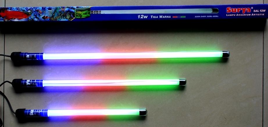 Harga lampu tl led akuarium 12w 3 warna rgb aquarium for Neon aquarium