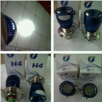 Harga lampu LED Headlamp soket H4 motor sport super terang