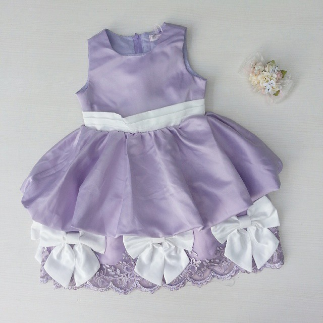 Jual Dress Pesta Anak Warna Ungu Pita / Baju Princess Sofia - Joleen's House | Tokopedia