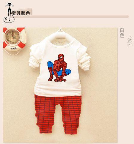STKDK93 - Setelan Anak Kecil LP Spiderman Murah