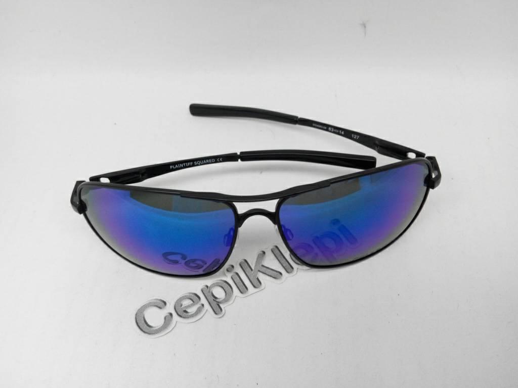3e62d5841e Jual Oakley Plaintiff Squared BLACK Frame W  BLUE Lens (Polarized) -  cepiklepi Store