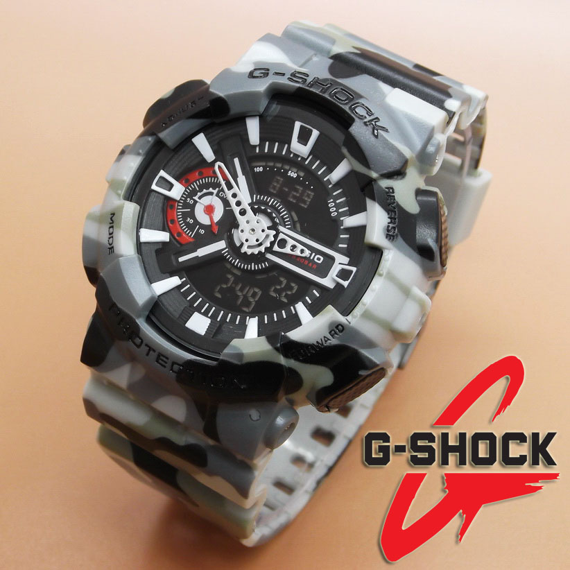 Casio G-Shock GA-110 Loreng (Black Grey)
