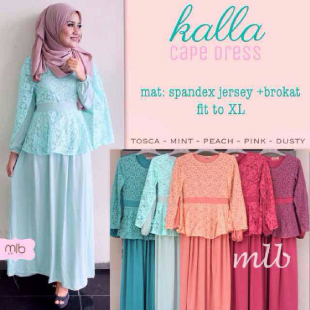 supplier hijab : kalla cape dress ori MLB