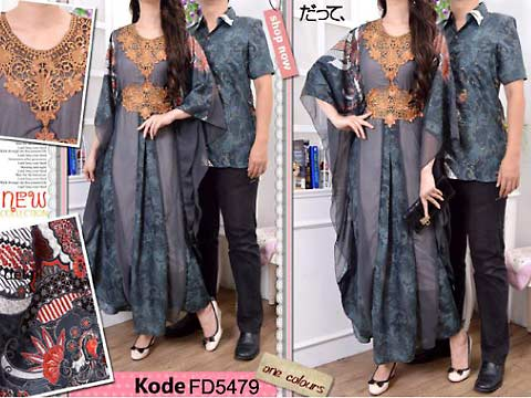 Jual Baju Gamis Batik Muslim Couple Silk Cotton Model