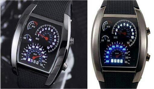 Jam tangan pria - Jam LED TVG speedometer