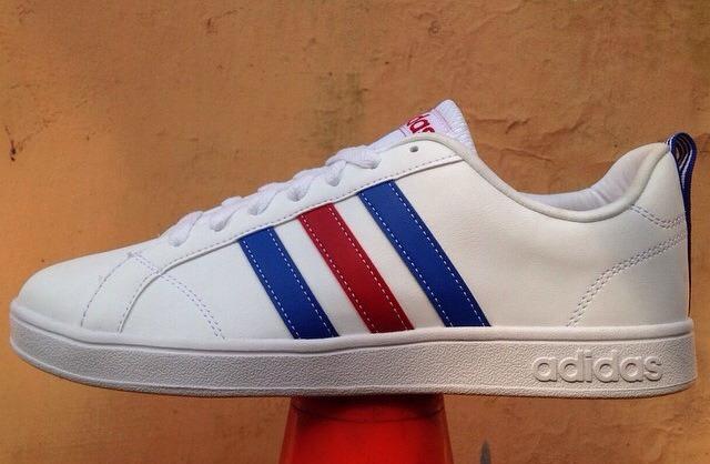 ... Jual Adidas Neo Advantage White Stripe Blue Red Original - Quantum  Shoes Tokopedia ... cf1e9a67b