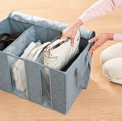box penyimpanan pakaian dari serat bambu bamboo charcoal storage