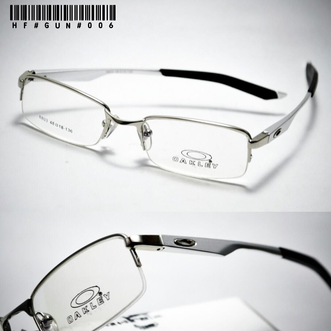 Jual frame kacamata oakley titanium silver gun - snick  o daisy ... a7629790b6