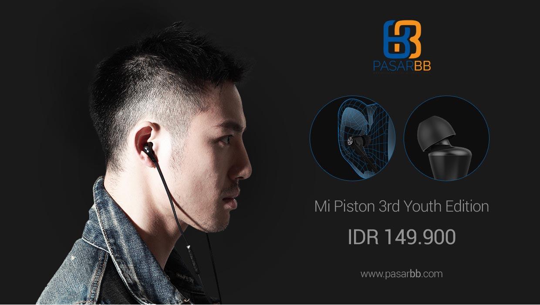 Xiaomi Piston 3 Youth Edition Headset Microphone Original Putih Colorful Earphone Hitam Fresh Version In Ear Source