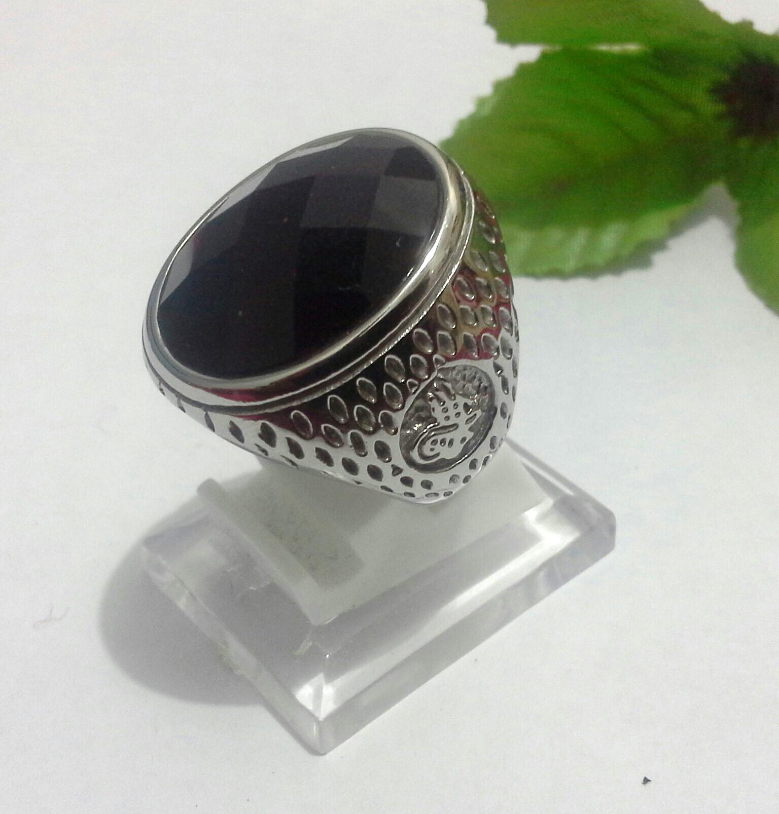 harga Cincin Import Black Onyx Ring Titanium Sweet Candy Tokopedia.com