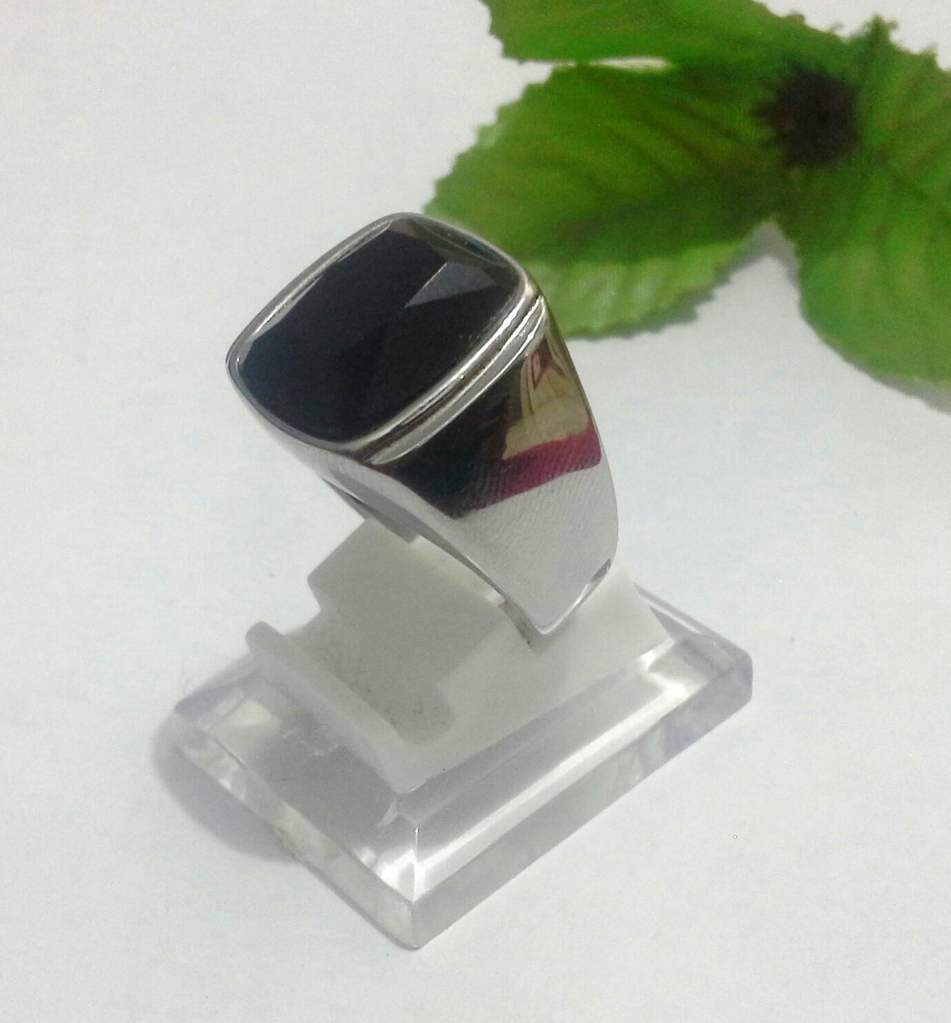 harga Cincin Import Black Onyx Ring Titanium Simply Tokopedia.com