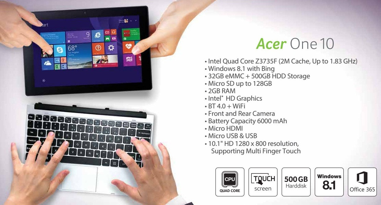 Jual Acer Aspire One 10 Touch Bisa TABLET