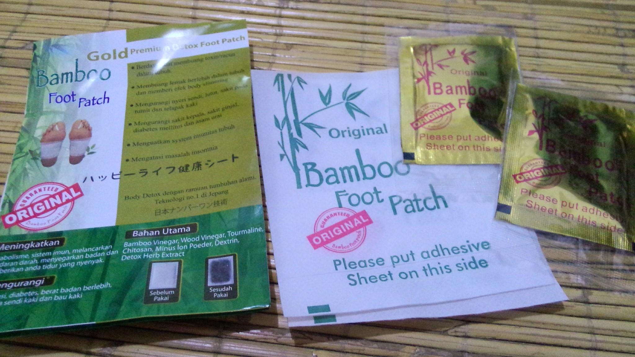 Bamboo Gold Foot Patch 5 Pasang Premium Detox Daftar Koyo Original Jual Kaki Terapi Toksin Pusat Herbal