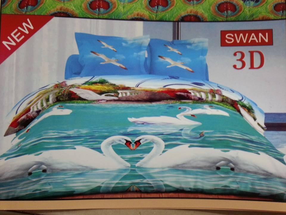Jual Sprei + Bedcover Bonita 3D SWAN 180x200 - Sprei Murmer Surabaya ...
