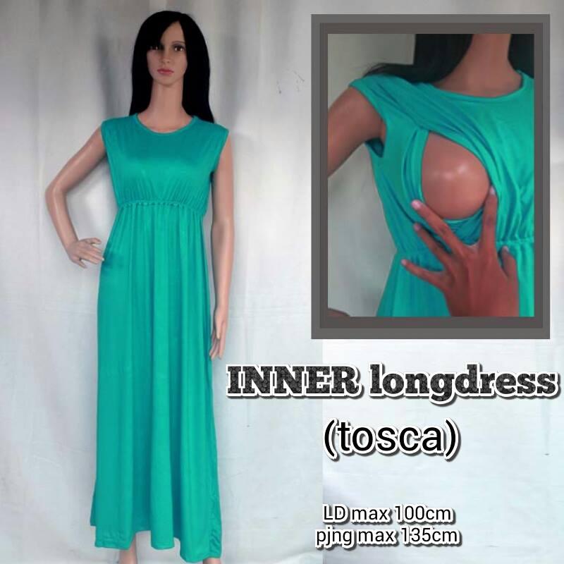 Jual Baju Inner Menyusui Dalaman Manset Maxi Dress Warna