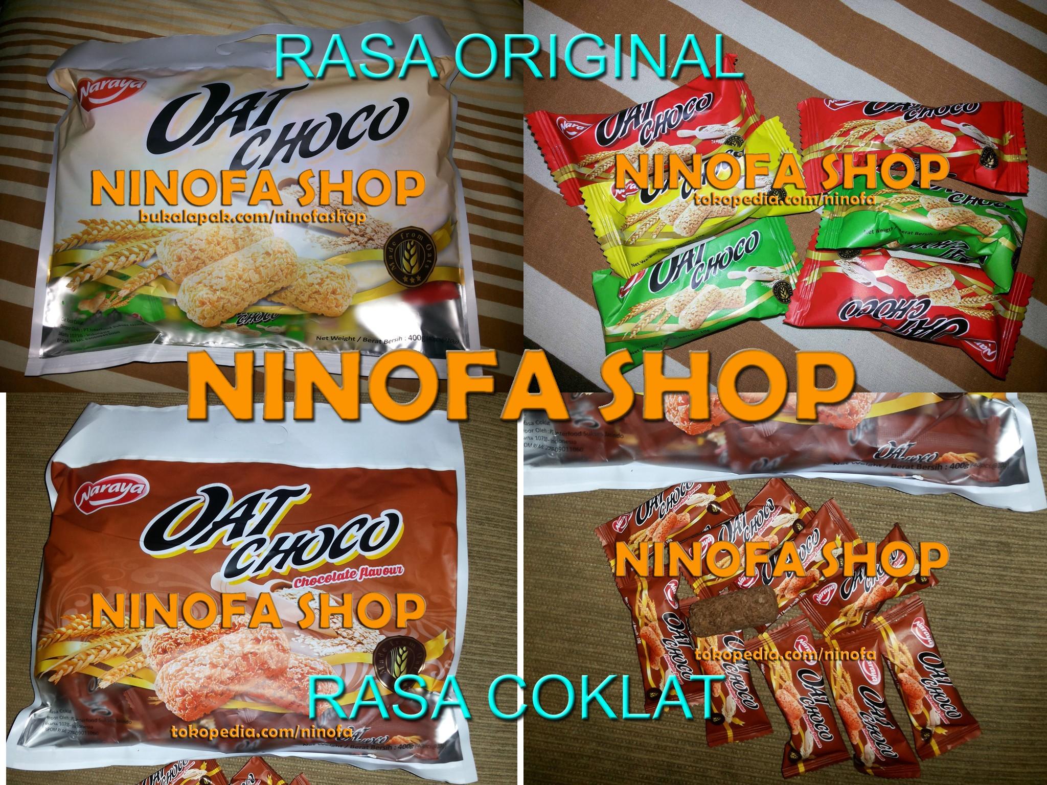 Naraya Oat Choco Rasa Original Vanilla 400gram Snack Diet Vegetarian