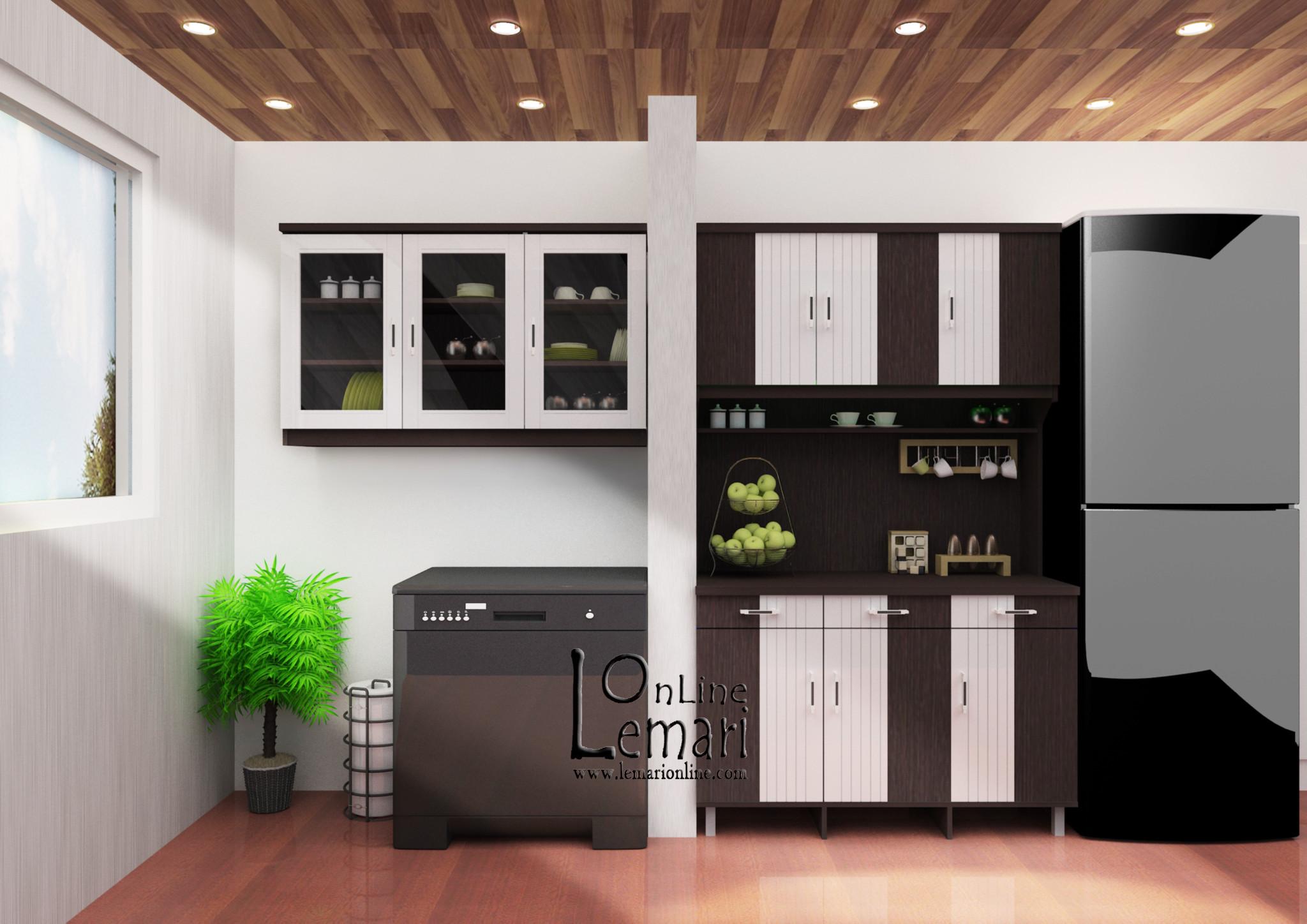 Kirana Kitchen Set Lemari Atas 3 Pintu Uk 913 Dark Mahogany Daftar Pakaian Cermin Queens Nycqlp3cdm Jual Dapur Ekonomis Furniture Online Tokopedia
