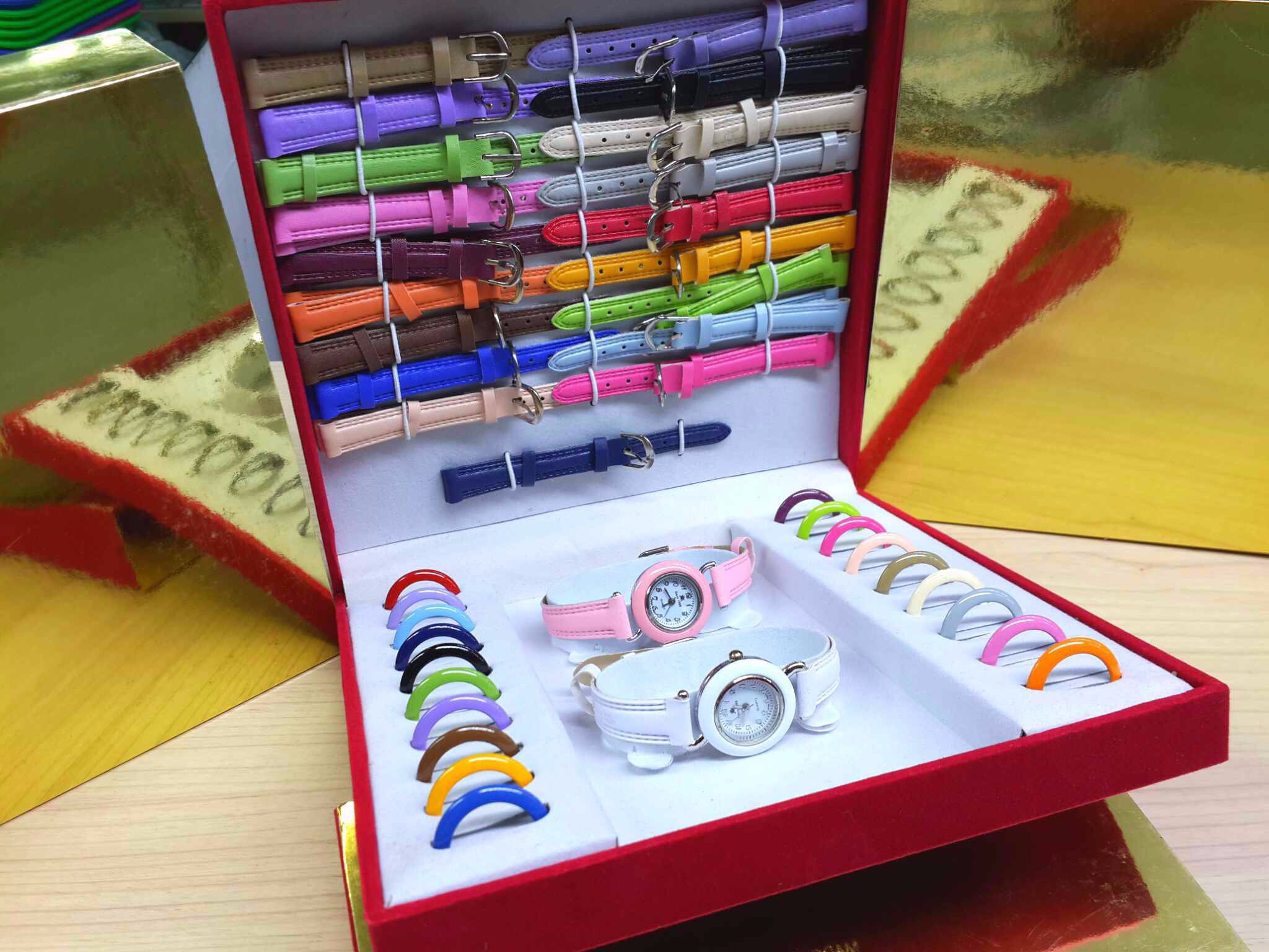 JAM TANGAN BOX SET / JAM WARNA WARNI / JAM TANGAN SINCE 21 WARNA