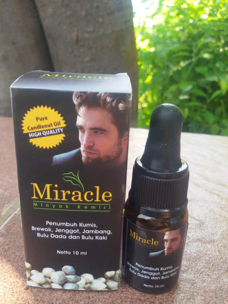 jual serum minyak kemiri penumbuh jambang brewok kumis jenggot bulu Gambar Minyak Kemiri Miracle