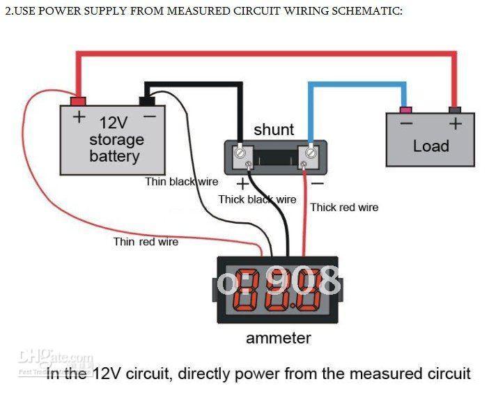 jual digital ammeter ampere current meter frame 0 10a dc 0 56 quot led sinar ceria elektonik