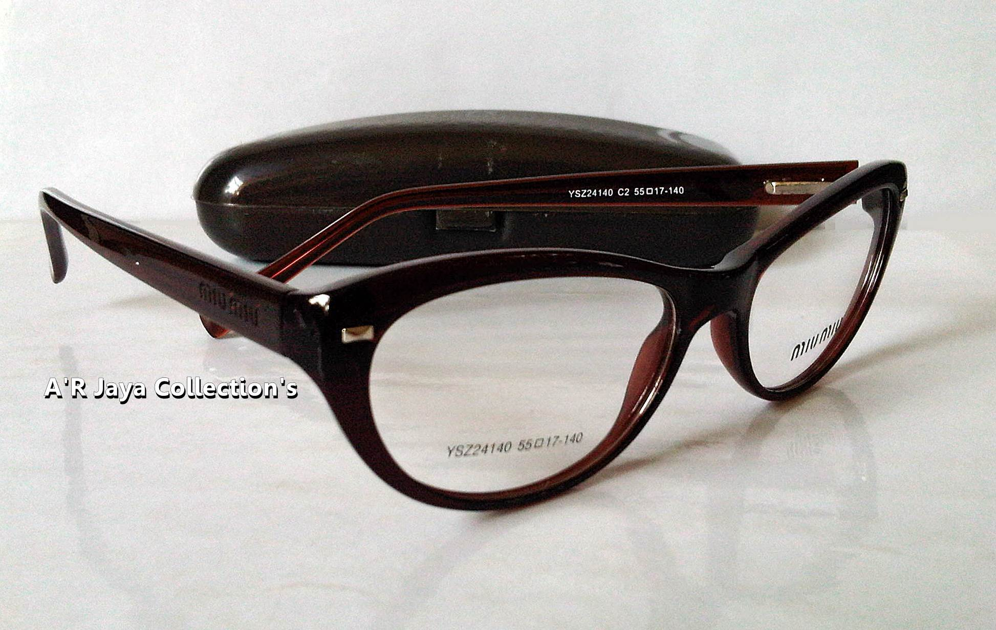 Jual PROMO Frame Kacamata ( Miu-Miu Cat Eyes ) + Lensa Minus... - A R Jaya  Olshop  b7abb7978a