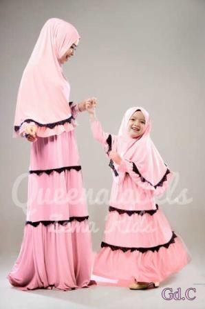 Harga Gamis Baju Ibu Dan Anak Gaun Muslim Mom Kids