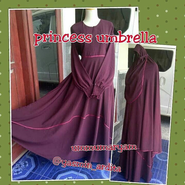 Jual Gamis Princess Umbrella Maroon Size L Griya Maryam Tokopedia