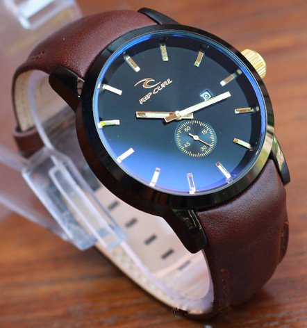 Ripcurl / Rip Curl Detroit Leather Cokelat Tua List Gold