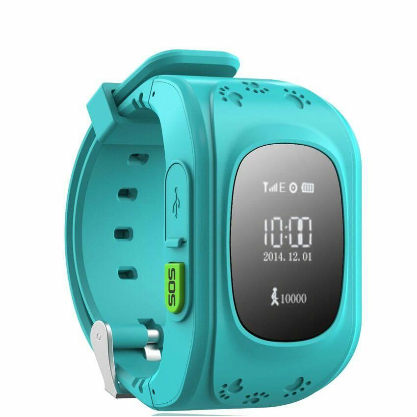 Smartwatch For Kids Gps Tracking Slot Sim Card Biru