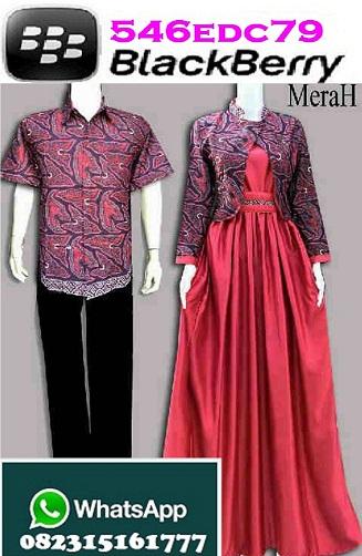 Couple GAMIS Hijab Muslimah Batik Rafanda