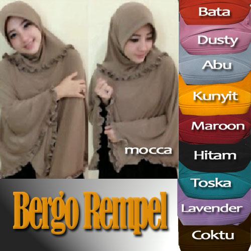 Jilbab / Hijab / Kerudung Bergo Rempel