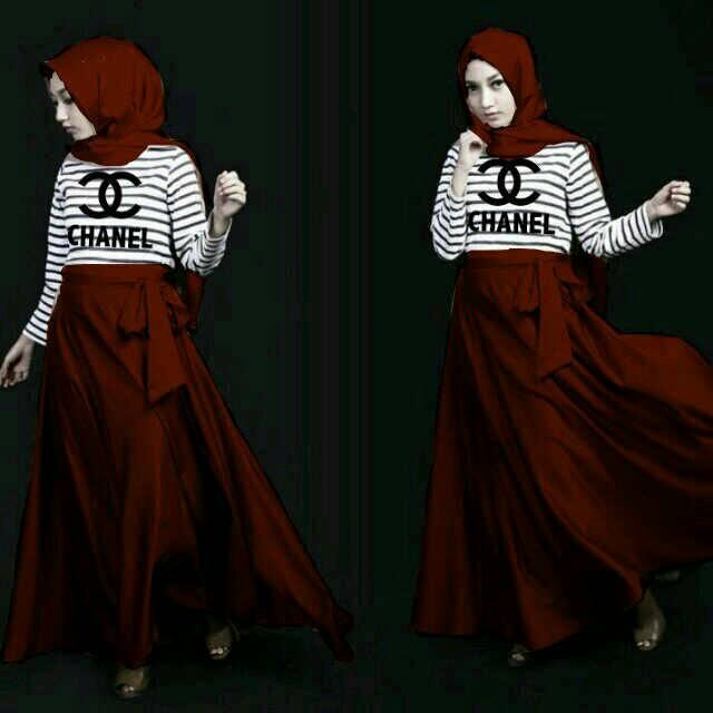 Setelan Hijab Chanel Salur