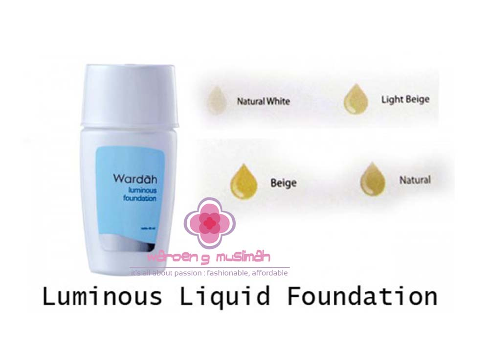 Jual Wardah Luminous Liquid Foundation - Waroeng Muslimah