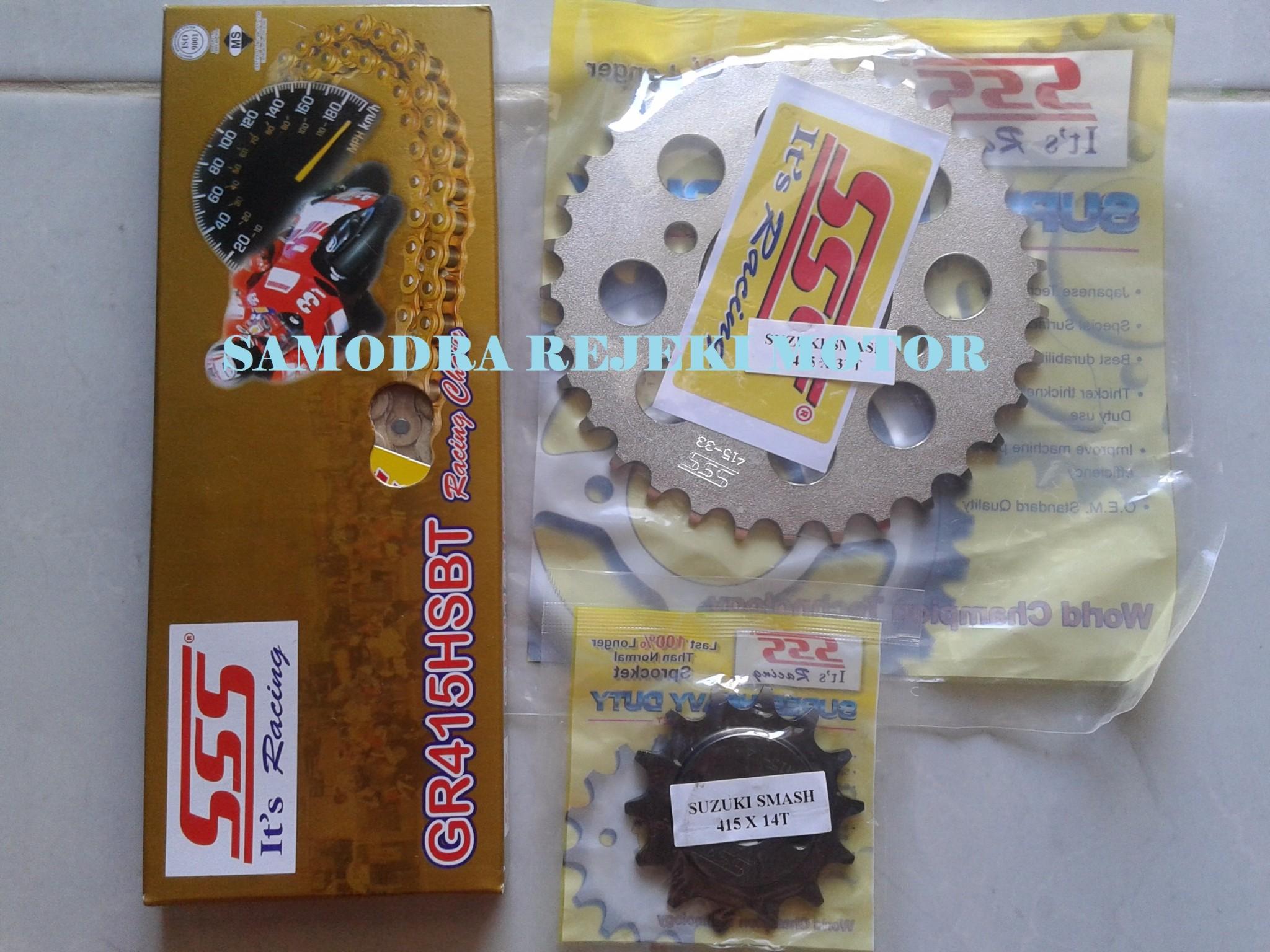 Jual Gir Set Sss Honda Blade Revo Absolute Ukuran 415 Samodra Gear Motor Vixion New Rantai Warna Rejeki Tokopedia