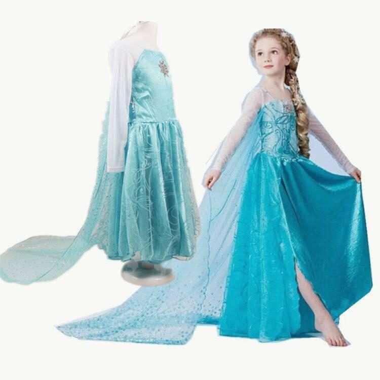 Jual Baju Frozen Elsa 03 / Dress Frozen - Queen Aphone Shop ...