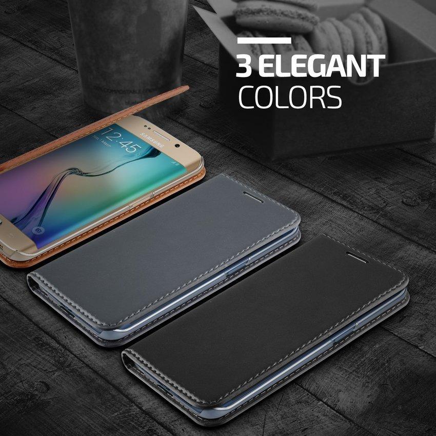 Verus Galaxy S6 edge Case Crayon Slim Standing diary Black