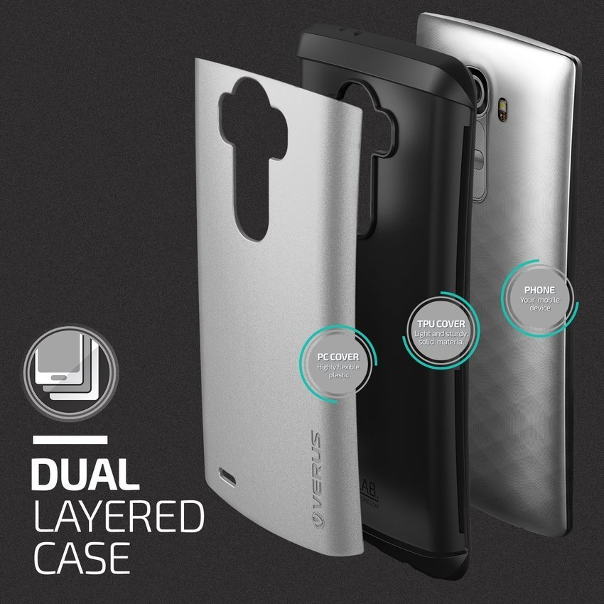 Verus LG G4 Case Hard Drop Light Silver