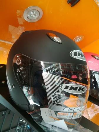 Jual Helm INK Centro Jet Solid Hitam Doff