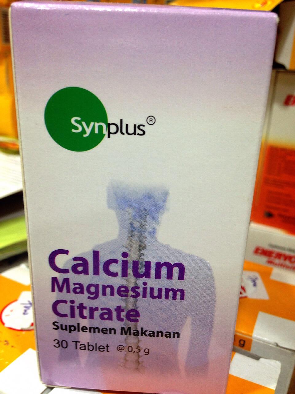 harga SynPlus Calcium, Magnesium, Citrate 30 Tablet Tokopedia.com