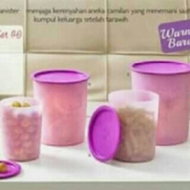 Jual Tupperware Mosaic Canister Set