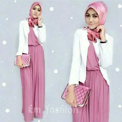 regata hijab set pink